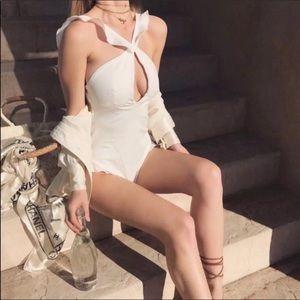 NWOT For Love&Lemons White One piece Swimsuit